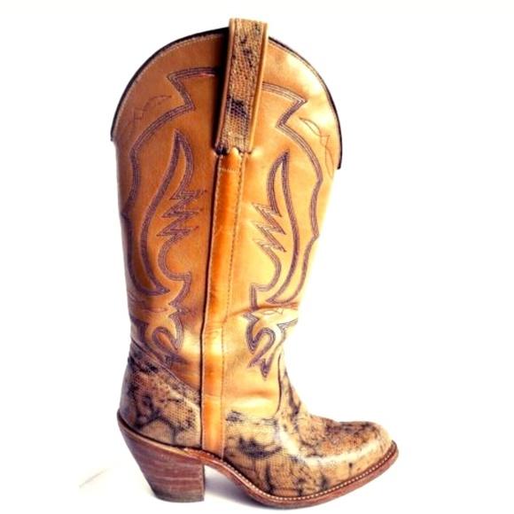 080f0b1ebc5 Vintage Miss Capezio Boots Leather Cowboy Lizard